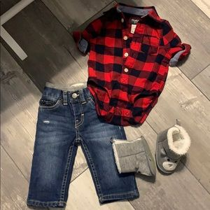 Baby boy Levi jean set